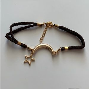 Jewelry - Moon and star suede bracelet